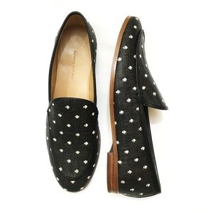 Banana Republic Black/ White Polka Dot Loafers